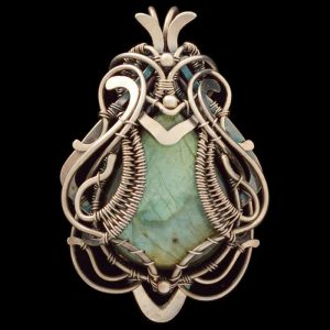 Healing Stones for You Labradorite Wire Wrapped Pendant Cybele