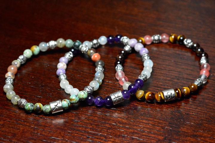 Zodiac Bracelets by Healing Stones for You