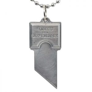 Healing Stones for You French Guillotine Blade Pendant