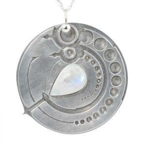 Healing Stones for You Moonstone Avebury Circle Pendant