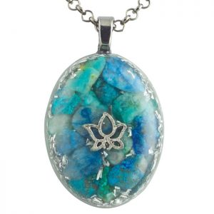 Chrysocolla Orgonite Pendant by Healing Stones for You