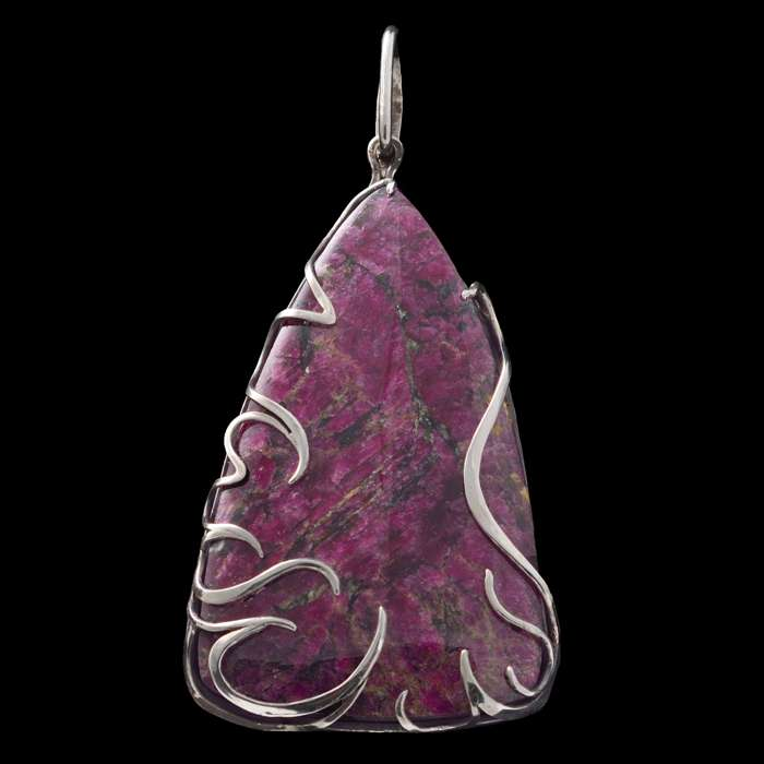 Eudialyte Wire Wrapped Pendant 'Red Blaze'