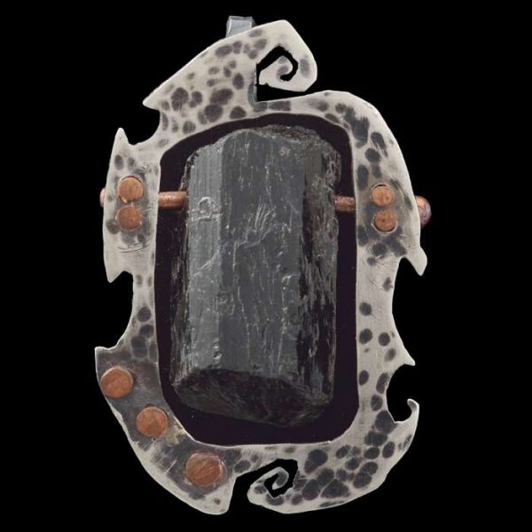 "Black Tourmaline Protection Pendant ""Deimos"""