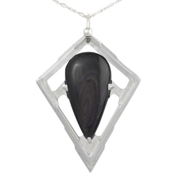 Gold Sheen Obsidian Pendant - Tranche - by Healing Stones for You