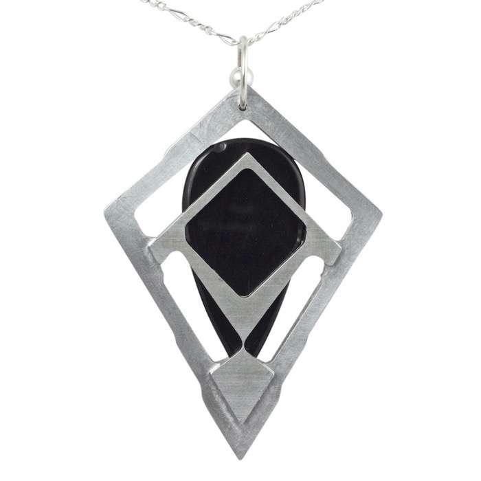 Gold Sheen Obsidian Pendant 'Tranche'