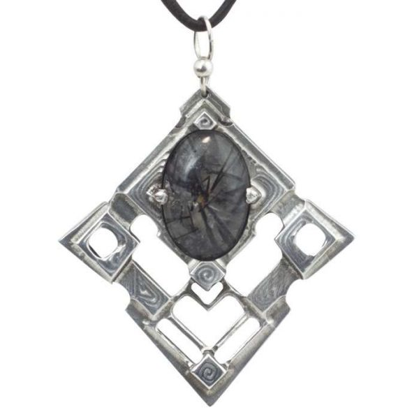 Rutilated Quartz Pendant Fortress by Healing Stones for You