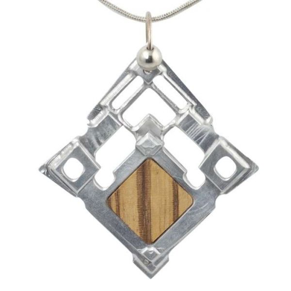 Zebra Wood Pendant Fortress by Healing Stones for You