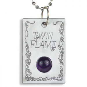 Amethyst 'Twin Flame' Pendant