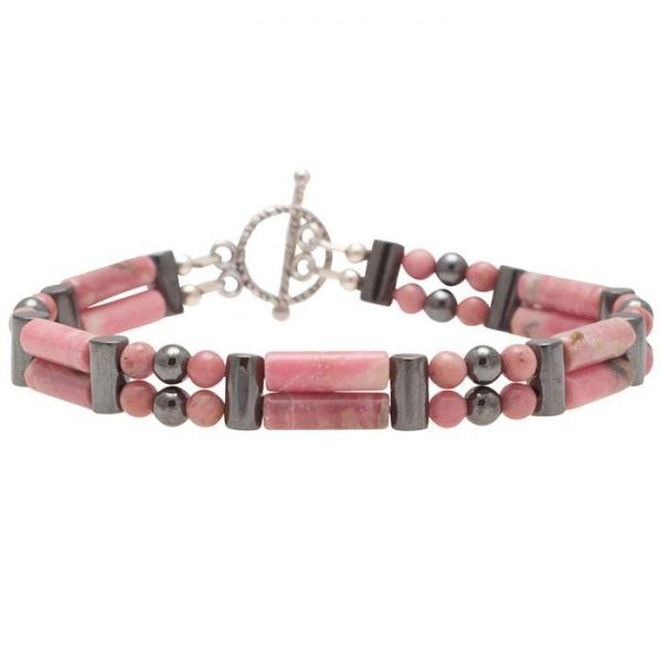 Rhodonite 'Emotional Balance' Double Power Bracelet