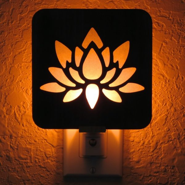 Lotus Flower Night Light by Healing Stones for You