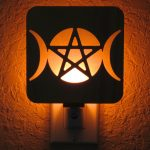 Wiccan Triple Moon Night Light by Healing Stones for You