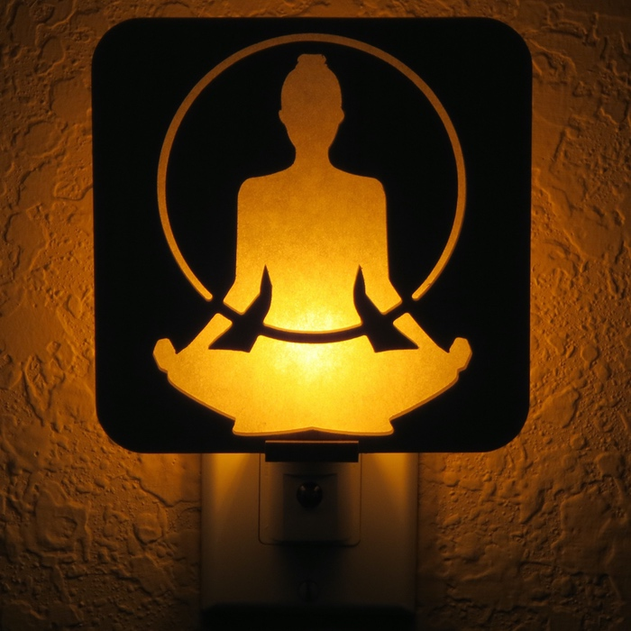 Meditation Figure Night Light by Healing Stones for You