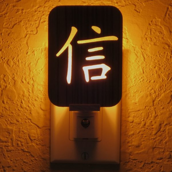 Chinese Faith Symbol Night Light by Healing Stones for You