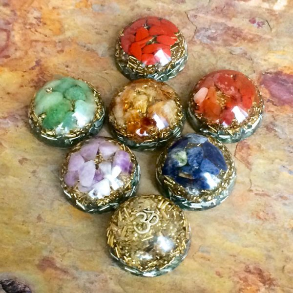 Orgonite® Chakra Domes - Set of 7 - by Healing Stones for You