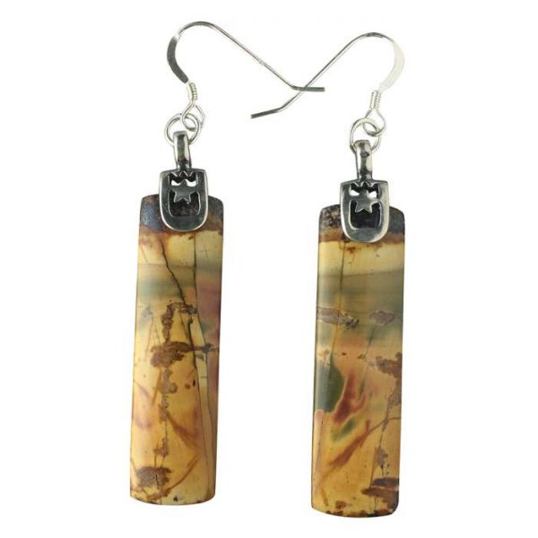 Red Creek Jasper Earrings by Healing Stones for You