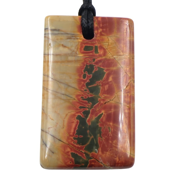 Red Creek Jasper Large Double Sided Rectangle Pendant by Healing Stones for You