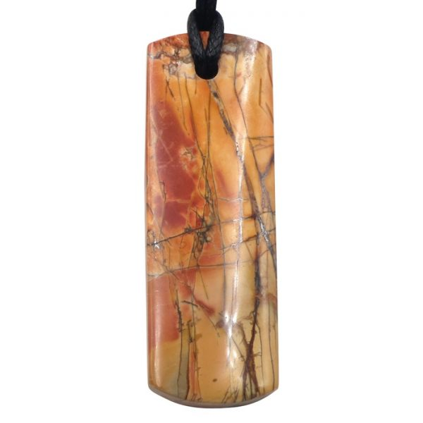 Red Creek Jasper Large Double Sided Thin Rectangle Pendant by Healing Stones for You