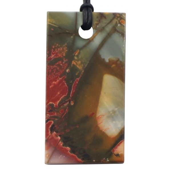 Red Creek Jasper Medium Double Sided Pendant by Healing Stones for You