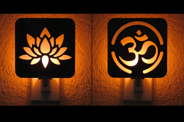 Wood Night Lights by Healing Stones for You