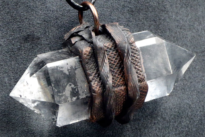 Double Terminated Clear Quartz Crystal Pendant from Healing Stones for You