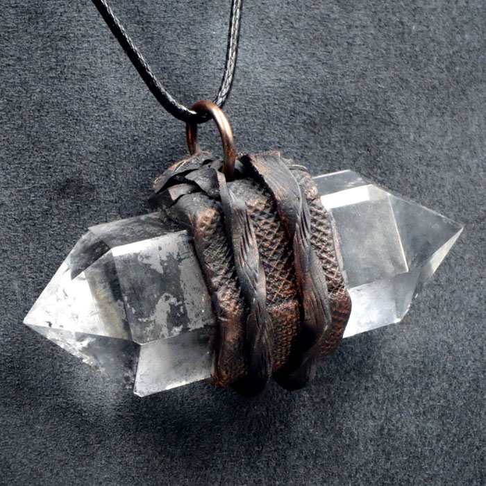 Double Terminated Clear Quartz Pendant by Healing Stones for You