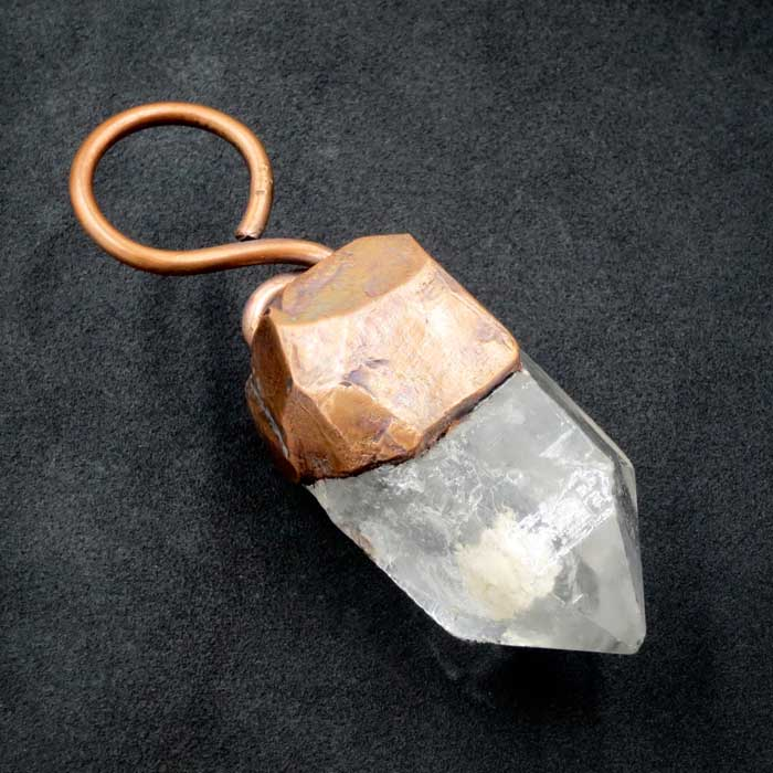 Clear Quartz Polished Rough Pendant by Healing Stones for You