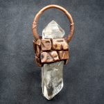 Double Clear Quartz Crystal Electroformed Pendant by Healing Stones for You