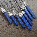 Lapis Lazuli Messy Wrap Stick Pendant by Healing Stones for You