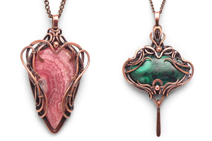 Wire Wrapped Pendants from Healing Stones for You