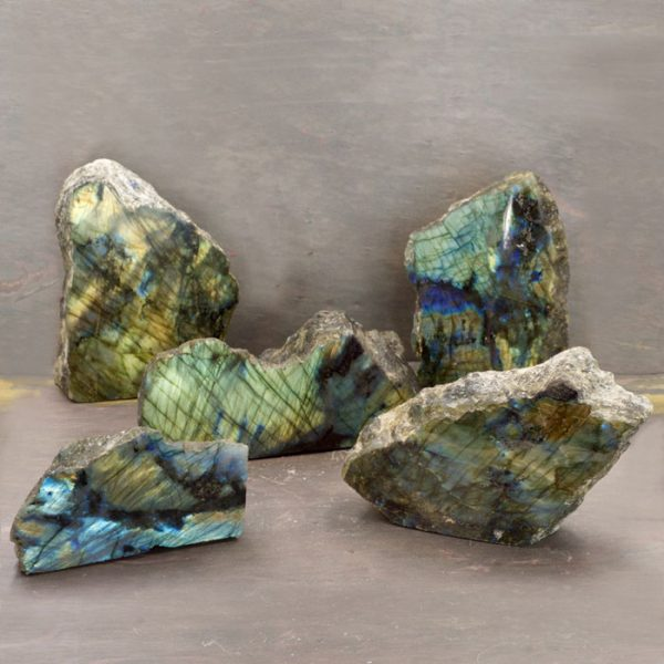 Labradorite Half Polished Slabs from Healing Stones for You