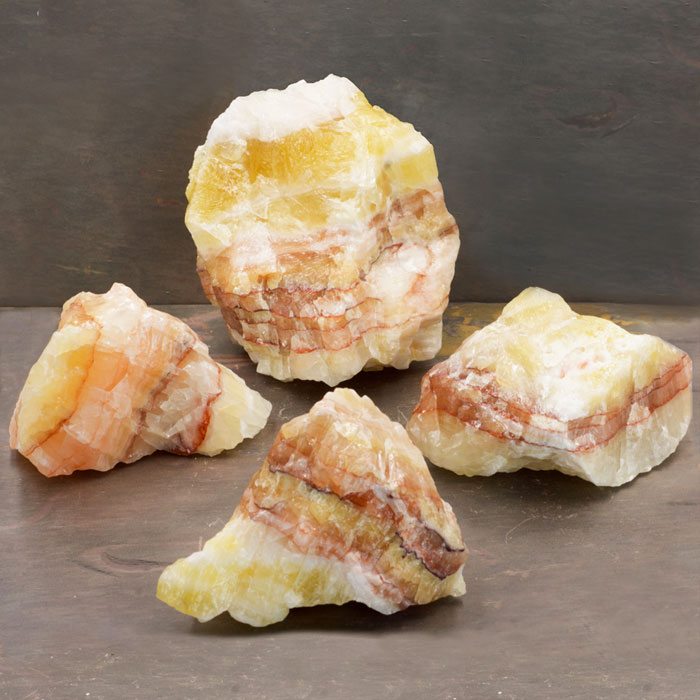 Tri Color Calcite Chunks from Healing Stones for You