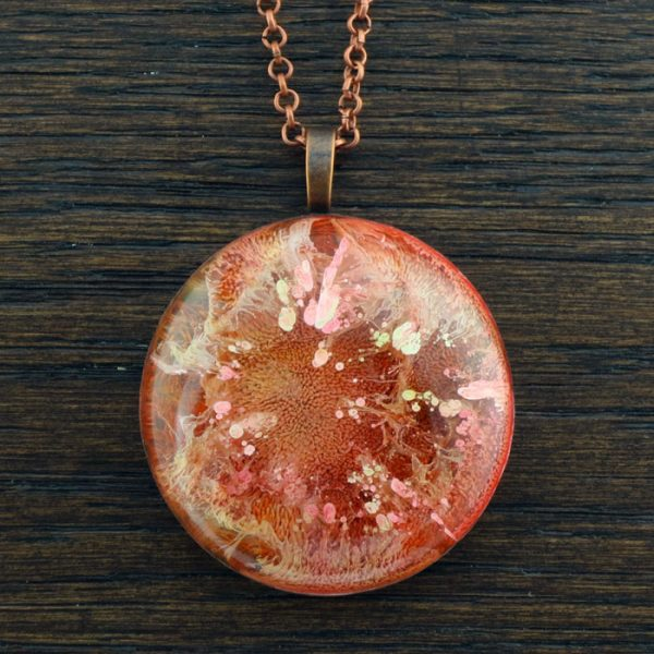 Orange Flame Orgonite® Pendant by Healing Stones for You