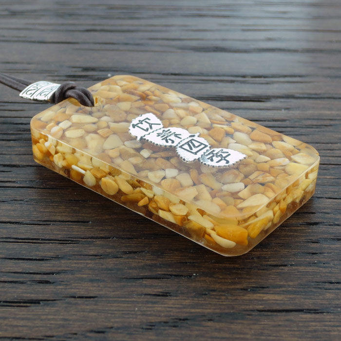 Yellow Jasper Suspension Pendant by Healing Stones for You