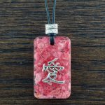 Rhodonite Suspension Pendant by Healing Stones for You