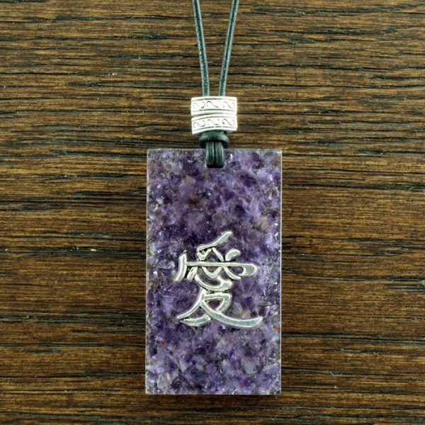 Amethyst Suspension Pendant by Healing Stones for You