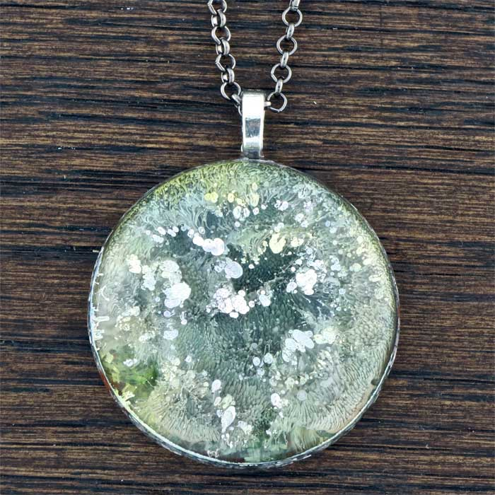 Green Garden Orgonite® Pendant by Healing Stones for You