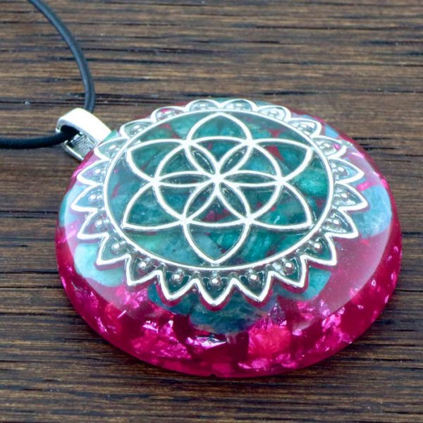 Amazonite Orgonite® Pendant by Healing Stones for You