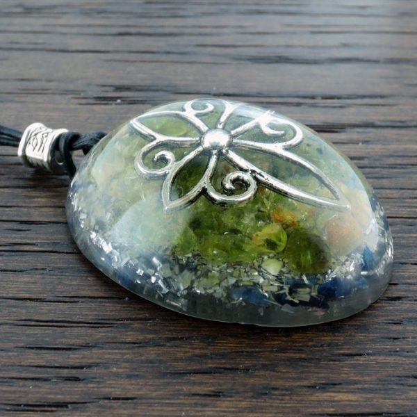 Peridot Orgonite® Pendant by Healing Stones for You