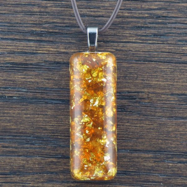 Amber Stardust Orgonite® Pendant by Healing Stones for You