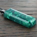 Dark Green Stardust Orgonite® Pendant by Healing Stones for You