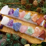 7 Stone Chakra Set with Selenite Bar by Healing Stones for You