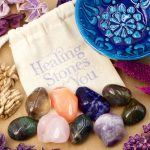 Home Protection Crystals with Mandala Bowl by Healing Stones for You