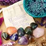 Home Protection Stone Set D with Mandala Bowl from Healing Stones for You