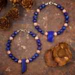 Lapis Lazuli and Rhodochrosite Bracelet by Healing Stones for You