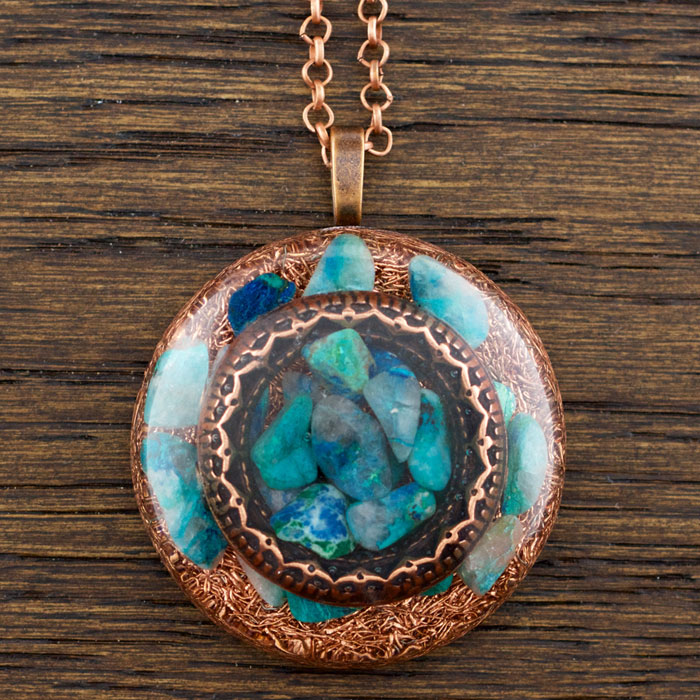 Chrysocolla Orgonite® Pendant by Healing Stones for You