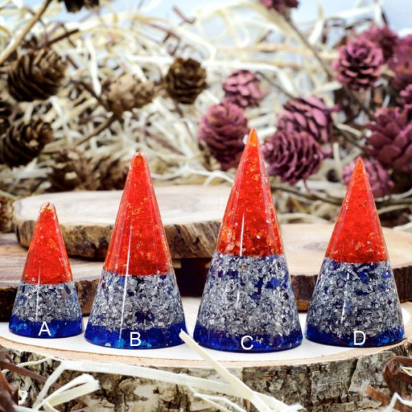Orgonite® Ring Cones with Sodalite by Healing Stones for You