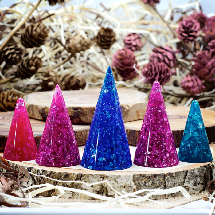 Stardust Orgonite® Ring Cones by Healing Stones for You