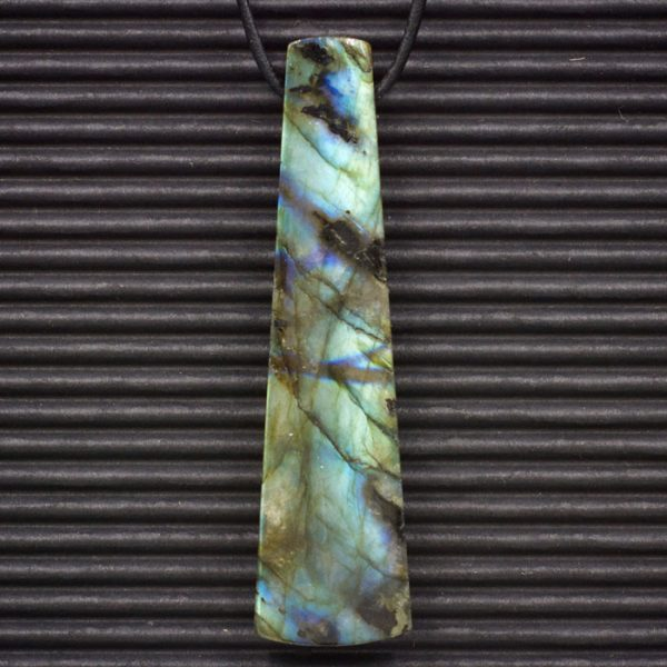 Labradorite Double Sided Trapezoid Pendant by Healing Stones for You