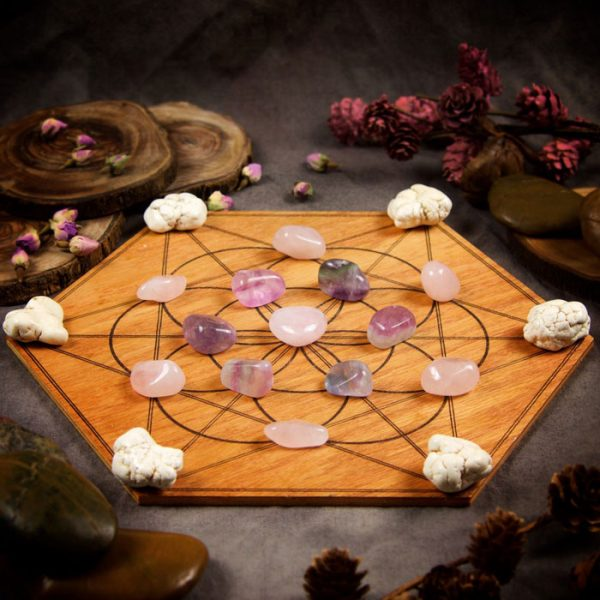 Attract Love Large Crystal Grid Set by Healing Stones for You