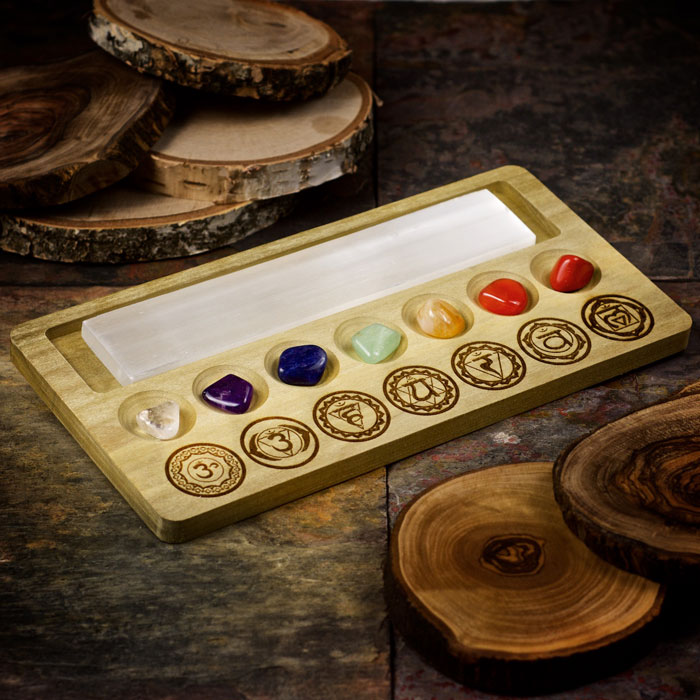Seven Chakra Crystal Charging Tray by Healing Stones for You